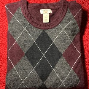 Gray and Burgandy Argyle Sweater by Dockers